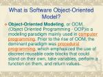 what is software object oriented model