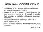 quadro s cio ambiental brasileiro