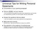 universal tips for writing personal statements