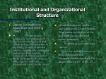 institutional and organizational structure1