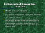 institutional and organizational structure2