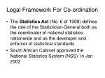 legal framework for co ordination