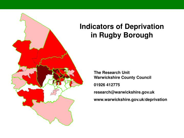indicators of deprivation in rugby borough n.