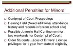 additional penalties for minors