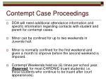 contempt case proceedings