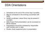 dda orientations