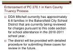 enforcement of pc 270 1 in kern county truancy process
