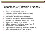 outcomes of chronic truancy