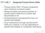 designing process driven soas