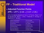 fp traditional model