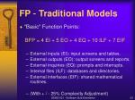 fp traditional models