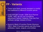 fp variants