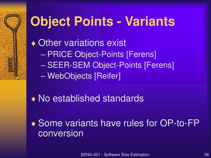 Object Points - Variants