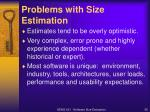 problems with size estimation1