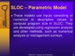 sloc parametric model