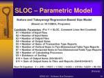 sloc parametric model1