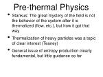 pre thermal physics