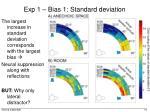 exp 1 bias 1 standard deviation