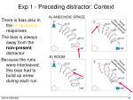 exp 1 preceding distractor context