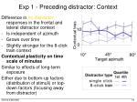 exp 1 preceding distractor context1