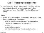 exp 1 preceding distractor intro