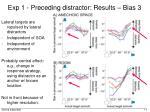 exp 1 preceding distractor results bias 3
