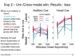exp 2 uni cross modal attn results bias1