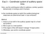 exp 3 coordinate system of auditory space intro1