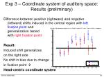 exp 3 coordinate system of auditory space results preliminary