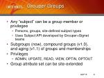 grouper groups