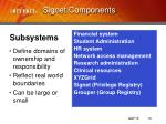 signet components