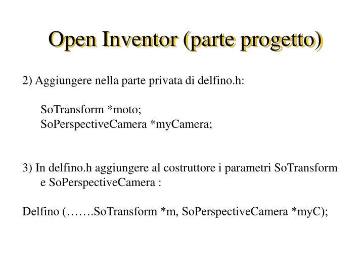 Open inventor parte progetto1