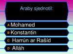 araby sjednotil