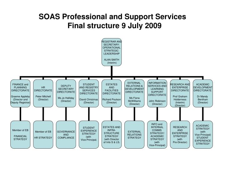 soas professional and support services final structure 9 july 2009 n.