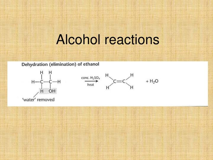 alcohol reactions n.