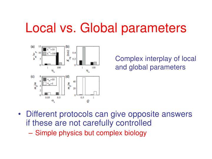 Local vs. Global parameters