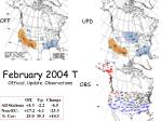 february 2004 t official update observations