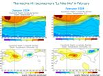 thermocline tilt becomes more la nina like in february