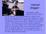 internet blogger