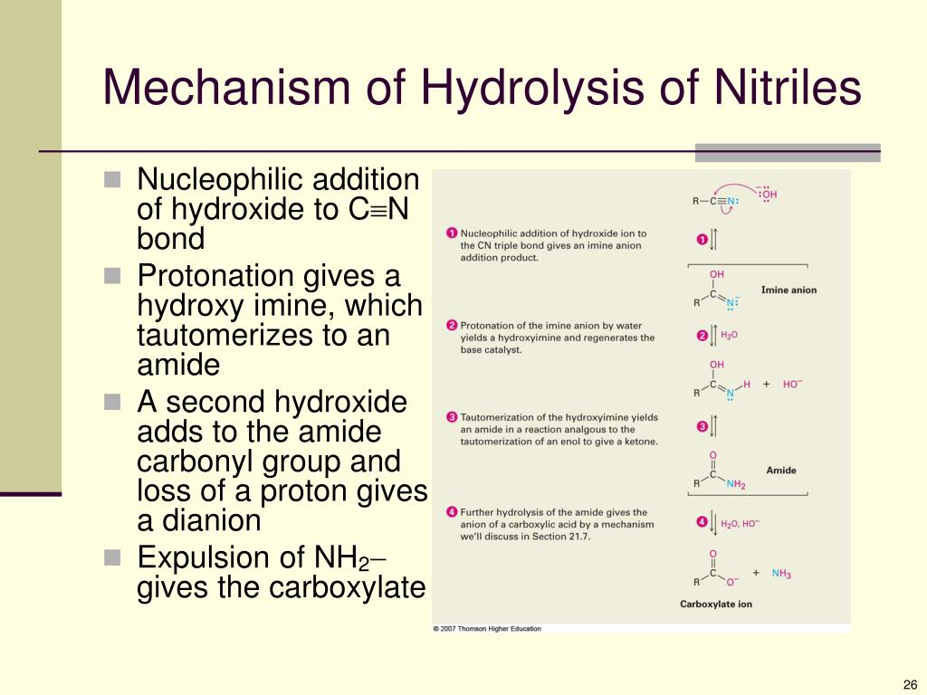 PPT - Chapter 20: Carboxylic Acids and Nitriles PowerPoint