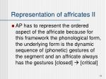 representation of affricates ii