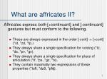 what are affricates ii