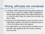 wrong affricates are unordered