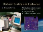 electrical testing and evaluation