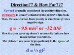 direction how far