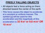 freely falling objects1