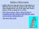 galileo s observation
