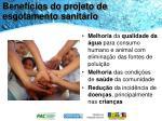 benef cios do projeto de esgotamento sanit rio