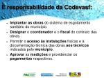 responsabilidade da codevasf