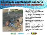 sistema de esgotamento sanit rio por que o saneamento t o importante